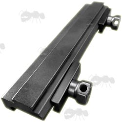 One Piece 20mm Weaver / Picatinny Rail to Dovetail Rail Adapter with Aluminium Plates