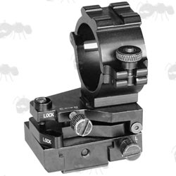 Weaver Rail Fitting Adjustable Locking Laser Illuminator Mount