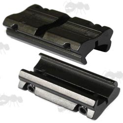 Two Piece Airgun / .22 Rifle 3/8 inch Dovetail Rail to Weaver Adapter Rails