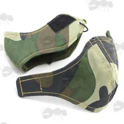 Two Piece Cordura Nylon DPM Camo Face Mask