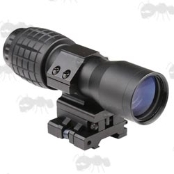 Airsoft Sight x4 Magnifier Scope in Black