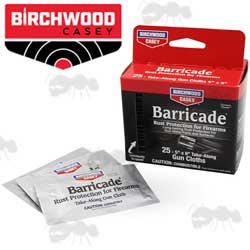 One Box and Three Birchwood Casey Barricade Take Along Gun Cloths