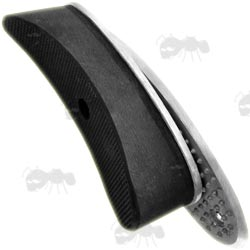 Metal Gun Stock Adjustable Buttplate with Thick Black Rubber Recoil Pad