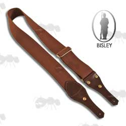 Brown Canvas and Leather Gun Sling