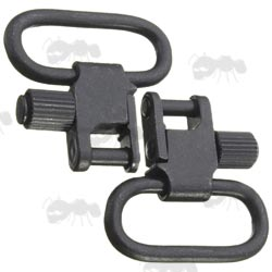 Pair of Black Quick-Release Gun Sling Swivels