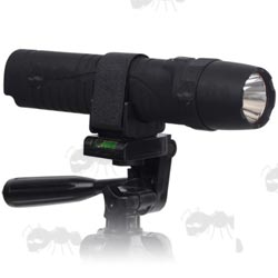 Large Plastic Torch Mount Camera Tripod Adapter with Velcro Strap