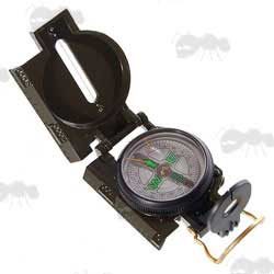 Military Lensatic Styled Metal Marching Compass