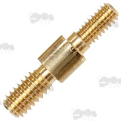 Double Male Parker Hale Brass Adapter for .270 US Swabs to UK Rifle Barrel Cleaning Rods