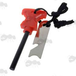 Large Red Suregrip Fire Starter Flint and Striker