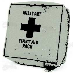 Green Army First Aid Kit Pouch