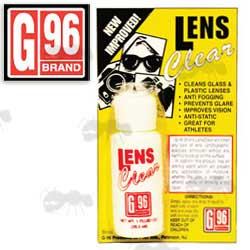 G96 Brand Lens Cleaning Bottle on Display Card