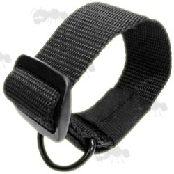 Black Universal Gun Buttstock Sling Adapter Nylon Loop with D-Ring