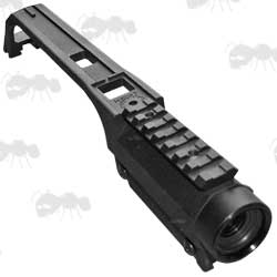 Black Polymer and Metal G36 Carry Handle with Built-in Scope