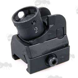 Airsoft Black HK416 Rear Ironsight