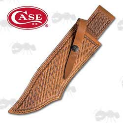 Case Heavy-Duty Brown Leather Sheath for Bowie Knives