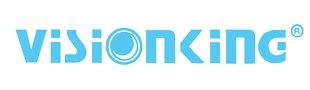 Visionking Company Logo in Sky Blue Text