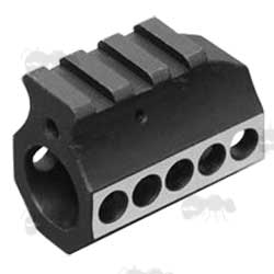 M4 Series Black and Silver Gas Block with Rail