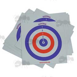 Marksman Red White and Blue Square Card Shooting Targets