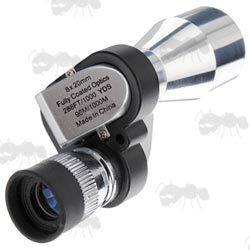 Silver Z Shaped Mini Compact Monocular