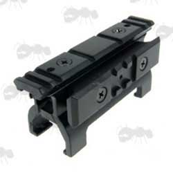 Black PSG-1 / MP5 High Profile Sight Rail Base Claw Mount