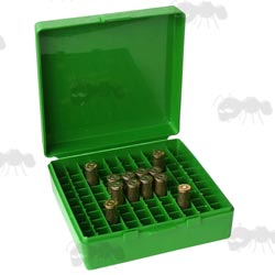MTM P-100 Hard Green Plastic Ammo Box