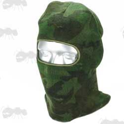Forest Camo Open Face Double Layered Knitted Acrylic Balaclava