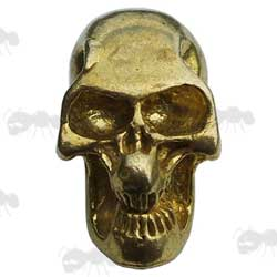 Gold Coloured Skull Bead with Side Hole