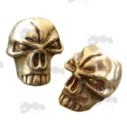 Gold Coloured Skull Bead with Top Hole