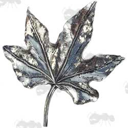 Pewter Pendant Leaf Badge