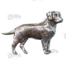 Pewter Pin Badge Dog