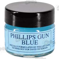 Glass Jar of 20 Grams of Phillips Game Technology Gun Blue Gel