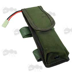 Green External Battery Pouch for Rifle Butts