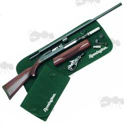 Remington Roll-Up Green Shooting Mat with Shotgun