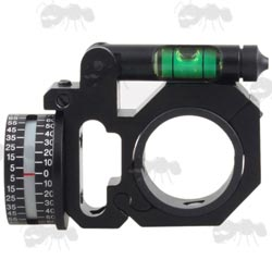 Rifle Scope Tube Fitting Angle Indicator with Swing Out Spirit Level