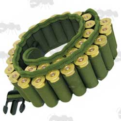 SMK Green Canvas QD Buckle Shotgun Cartridge Belt