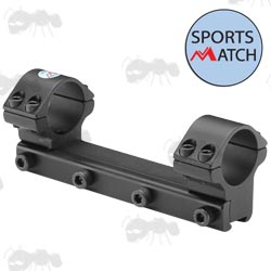 OP25C Sportsmatch 9.5-11mm Dovetail Rail One Piece Medium Profile 25mm Diameter Scope Rings with Arrestor Pin