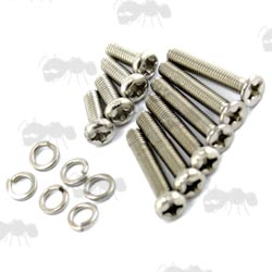 Set of Stainless Steel Screws for VII Aeg Gearbox