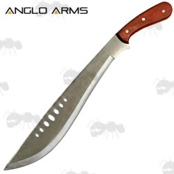 Wooden Handle Large Curved Blade Machete