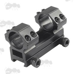 Medium-Profile One Piece Short Base Heavy-Duty 25mm Scope Mount for Weaver / Picatinny Rails