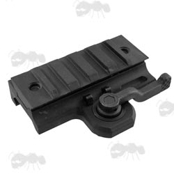Black Aluminium Airsoft 20mm Rail Mount with Quick Release Throw Lever