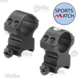 HTO76 Sportsmatch Weaver / Picatinny Medium-Profile Scope Rings