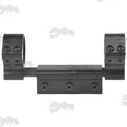 One Piece Scope Mount with Recoil-Damper Spring Systen for Weaver / Picatinny Rails