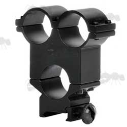 Weaver Scope Mount with Twin Torch Ring Mounts