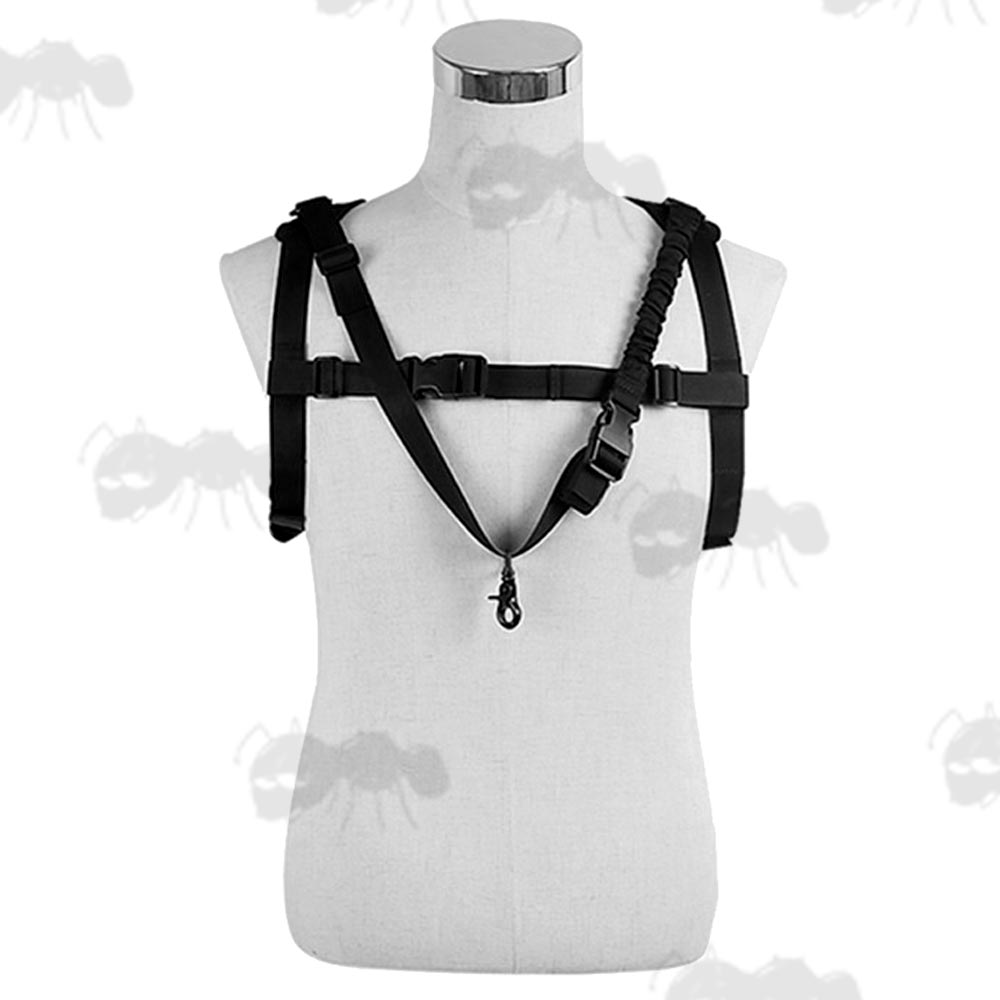 Chest Rig Bungee Gun Sling - Rifle Slings for Combat Vests