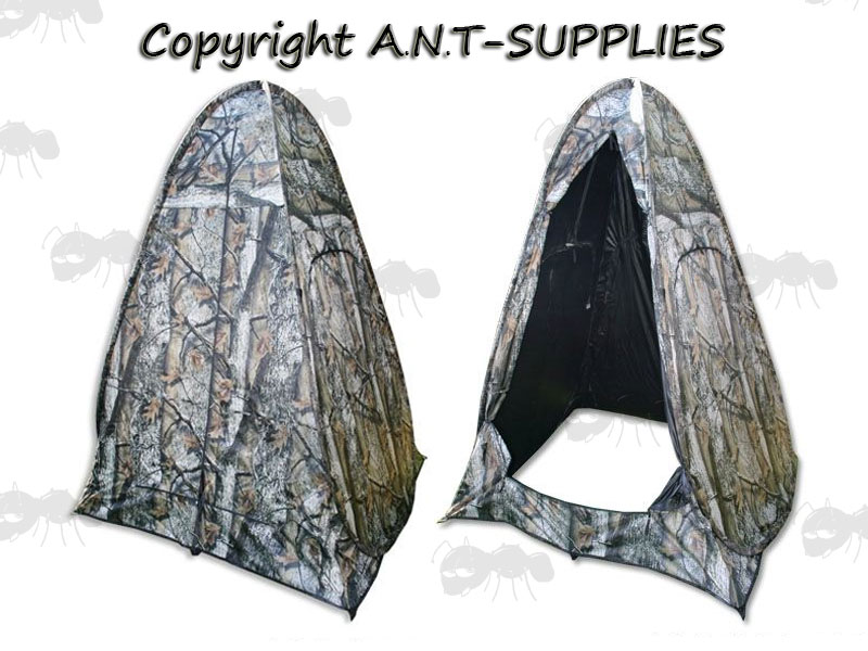 Front and Back View of a One Man Pop-Up Camouflage Shooting Hide with Windows  sc 1 st  ANT Supplies & Pop Up Shooting Hide - One Man Camo Tent | FREE UK Shipping