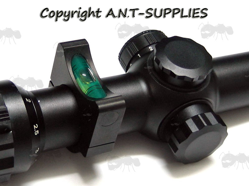 Anti Cant Spirit Level on a Rifle Scope