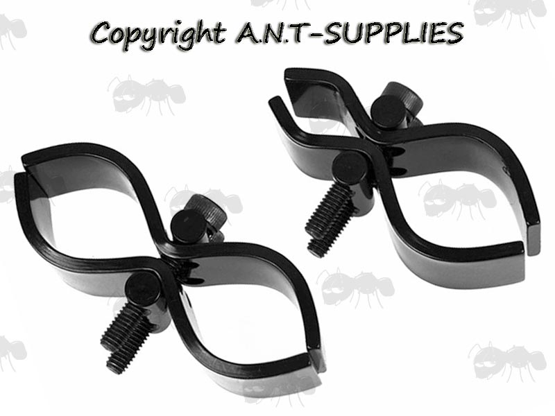 Small and Standard Sized Universal Metal Scope Tube Clamp Mount