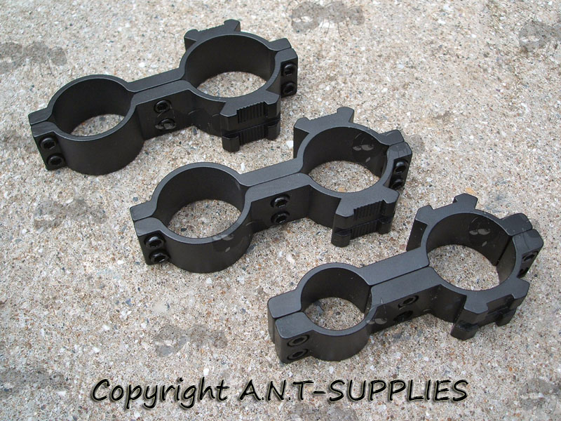 Three Figure of Eight Scope Mount with Side Rails