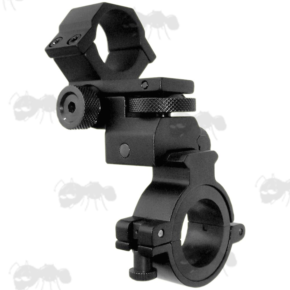 Quick-Release Low-Profile Weaver Rail and Scope Tube Laser Torch Mount