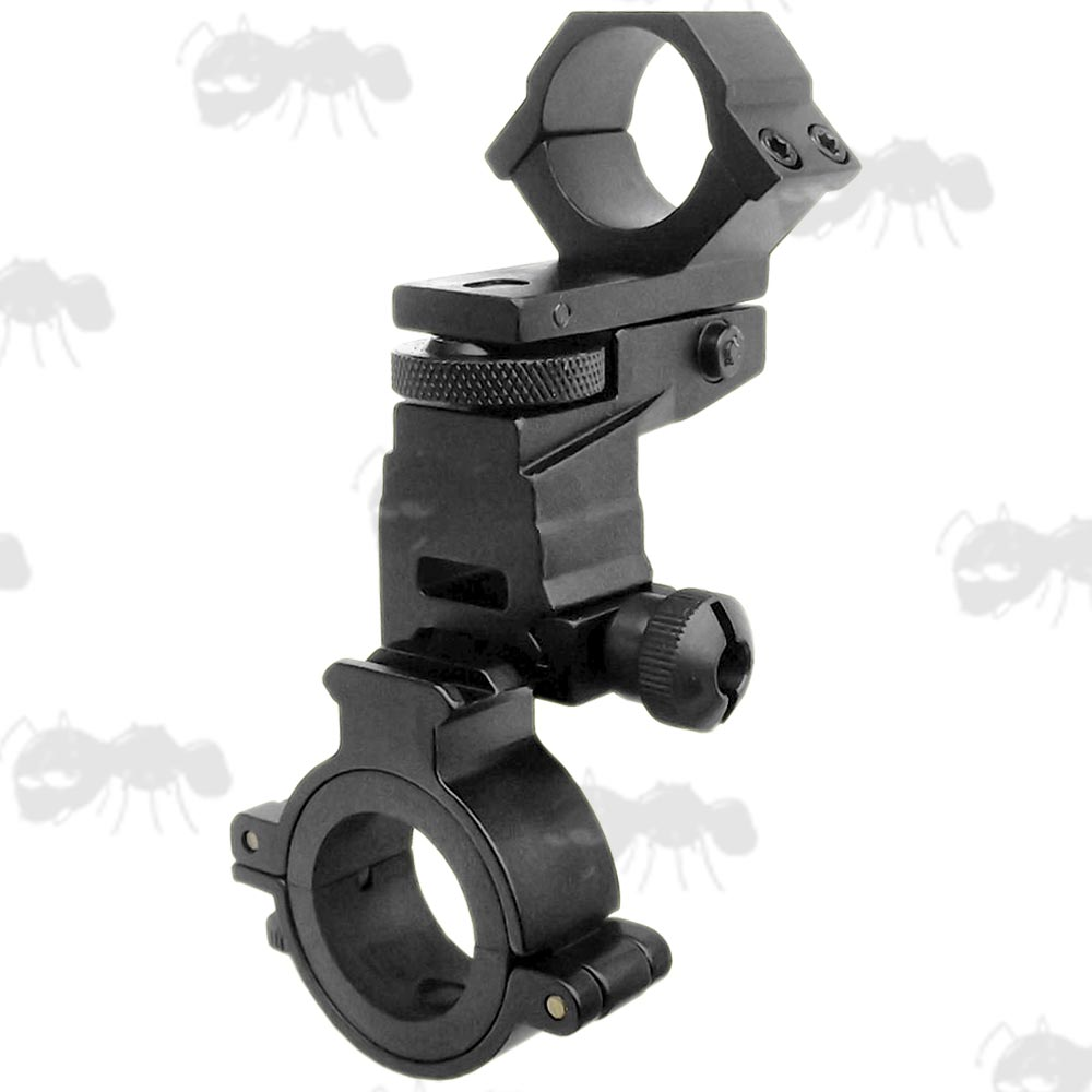 Quick-Release High-Profile 25mm Diameter Weaver Rail Ring Mount and Scope Tube Laser Torch Mount
